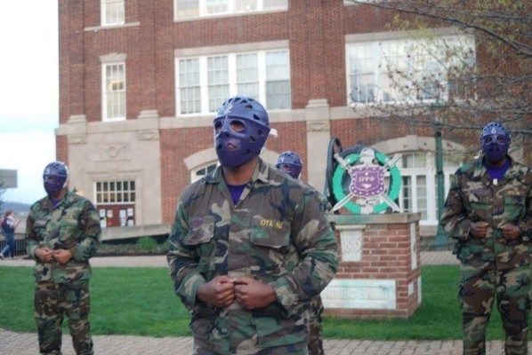 """Da Bruhz"" preparing to leave their mark on McDaniel's campus. Photo by Jada Pickens."