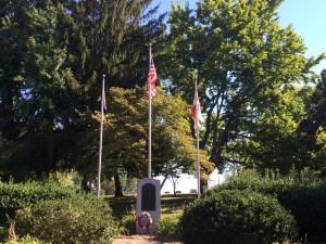 The war memorial garden at the Emerald Hill park.
