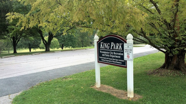The entrance to King Park. Photo by Atticus Rice.