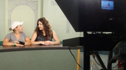 Haley Duff and Megan Davis prep for the show.