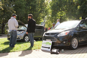 Electrical and hybrid car exhibition. Photo by Jimmy Calderon