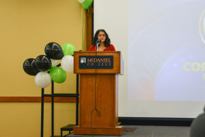 HLA president Jocelyn Diaz opens the event. Photo by Kyle Parks.