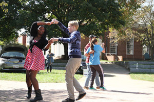 The Swing Club dances while the Street Fair takes place. Photo by Jimmy Calderon