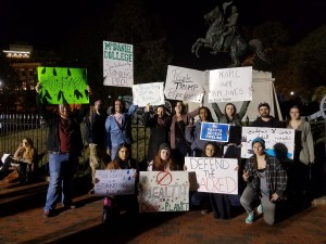 McDaniel students at the Dakota Access Pipeline Protest in DC. Image courtesy of Simi Adeoye.