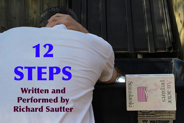 """12 Steps: A Solo Performance Piece."" Image courtesy of McDaniel College."
