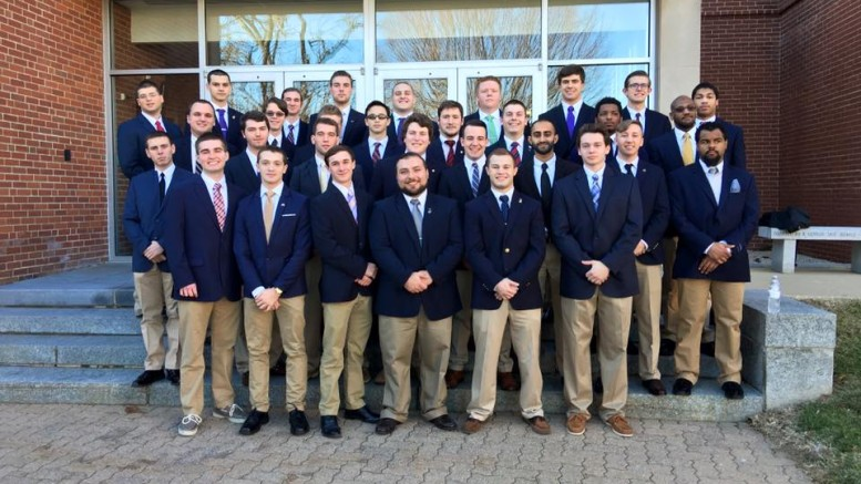 McDaniel Fraternity Sigma Alpha Epsilon on the day of their chartering. Courtesy of Ryan Grant/Sigma Alpha Epsilon McDaniel College.