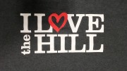 "Members of the college can receive this year's ""I Love the Hill"" t-shirt in exchange for writing a love note to the Hill. Photo by Atticus Rice."