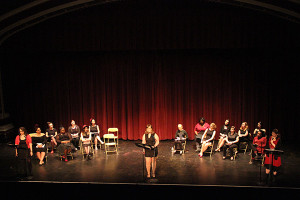 """The cast of this year's """"The Vagina Monologues."""" Photo by Jimmy Calderon."""