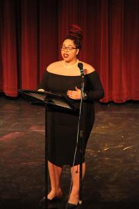 "Dasia Barnett during her performance of ""Hair."" Photo by Jimmy Calderon."