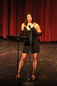 "Megan Smith during her performance of ""The Woman Who Loved to Make Vaginas Happy."" Photo by Jimmy Calderon."