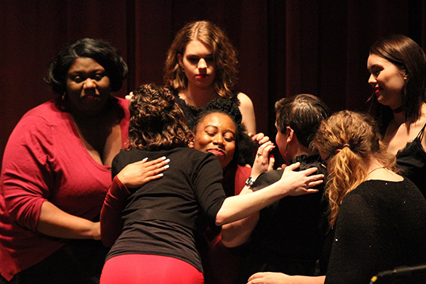 The cast shows their support to Kiah Hyman. Photo by Jimmy Calderon.