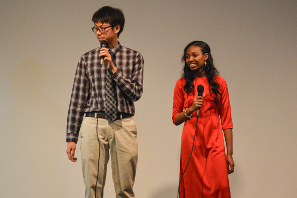 Phuc Truong and Tonae' Hamilton spoke in between performances. Photo by Kyle Parks.