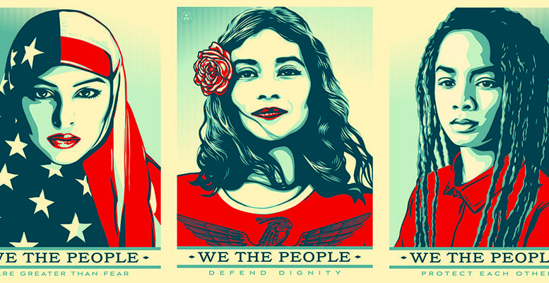 Images by Shepard Fairey for the Amplifier Foundation.