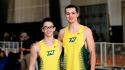 Evan Callahan (right) with a fellow track teammate. Photo courtesy of Evan Callahan.