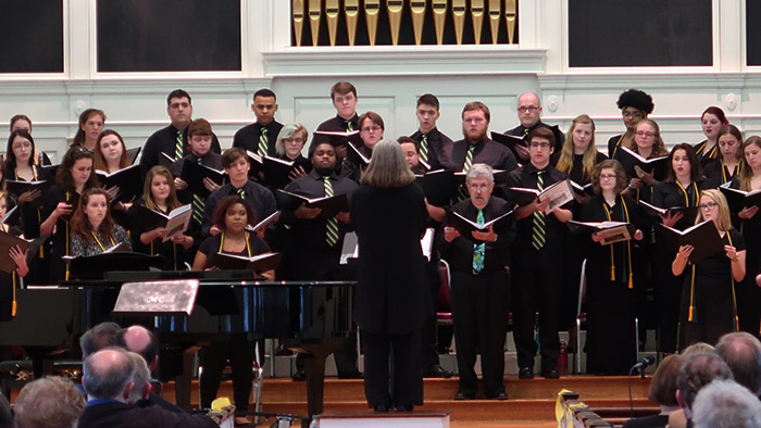 College Choir performing on their Spring 2017 concert. Photo by Emma Carter