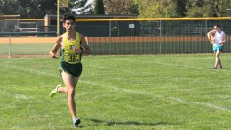 Gavin Gibson crosses the finish line during Sept. 16's Green Terror Challenge. Photo by Gunnar Ward.
