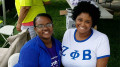 Kayla Malone and Eryn Rich of Zeta Phi Beta. Photo courtesy of Kayla Malone.