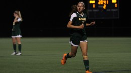 McDaniel's Jackie Fahrenholz scored her first career goal Oct. 4 in a loss to Franklin & Marshall. Photo by Atticus Rice.