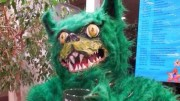 The current Green Terror mascot. Photo by Kaylan Hutchison.