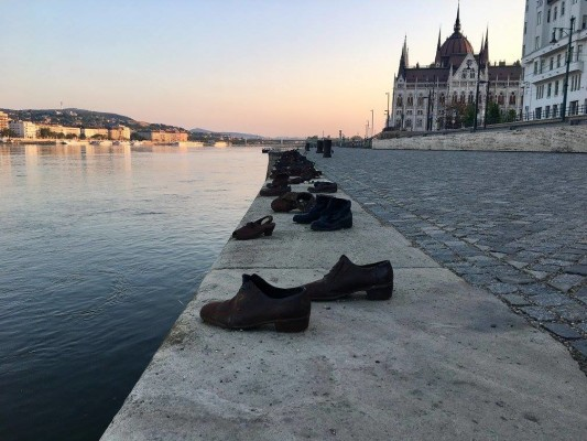 The Shoes on the Danube Promenade. Photo courtesy of Zac Sheaffer.