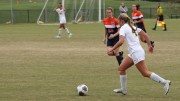 Alyssa Johnston scored a golden goal to end the Nov. 1 Centennial Conference tournament first round game against Gettysburg.