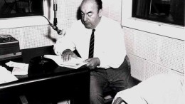 Pablo Neruda in 1966. Image via Public Domain.