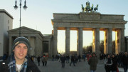 Gales at the Brandenburg Gate in Berlin. Photo courtesy of Mark Gales.