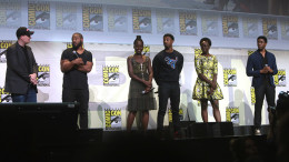 The Black Panther cast at San Diego International Comic Con 2016. Photo courtesy of Gage Skidmore.