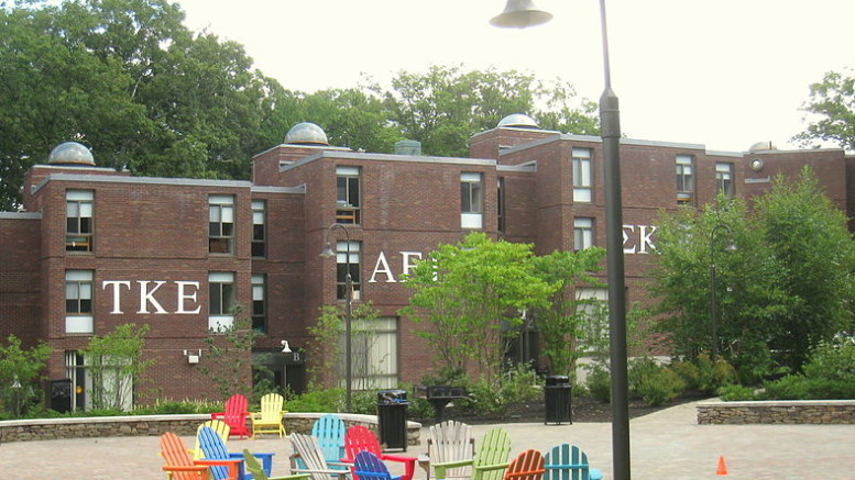 Greek-lettered housing options at Babson College in Massachussets. Photo courtesy Wikimedia Commons.