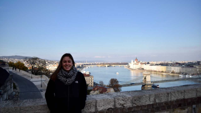 Lindsay Russell while studying abroad in Budapest, Hungary during her junior year. Photo courtesy of Lindsay Russell.