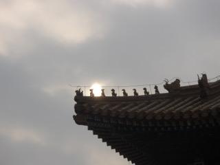 The rooftop of China's Forbidden City showcases the Chinese zodiac animals. (Photo courtesy of Debra Lemke).