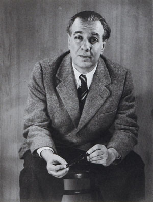 Jorge Luis Borges in 1951. (Photo courtesy of Grete Stern / Wikimedia Commons).