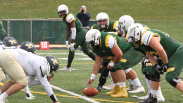 Green Terror football takes on Juniata College in a Sept. 30, 2017 home loss, 42-41 in overtime. (Atticus Rice / McDaniel Free Press).
