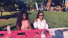 Members of Polish and Glam at the Aug. 29, 2018 Involvement Fair in the quad. (Photo courtesy of Polish and Glam).