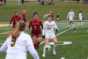 Senior forward Kirsten Gibson. (Gunnar Ward / McDaniel Free Press)