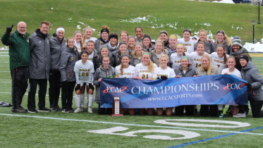 The women's soccer team takes the ECAC championship. (Gunnar Ward / McDaniel Free Press)