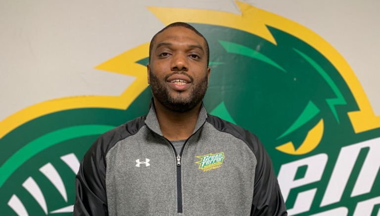 DeMarcus White has been named head coach of the football program. (Gunnar Ward / McDaniel Free Press)