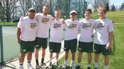 Will Giles with teammates from the men's tennis team. | Photo courtesy of Erin Giles