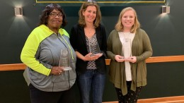 Cecilia Bowens, Kerry Duvall, and Lacey Utz were the 2019 recipients of the Phenomenal Woman awards. (Photo courtesy of Lana Williamson).