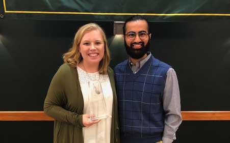 Lacey Utz and mentor Azhar Ali. (Photo courtesy of Lacey Utz).