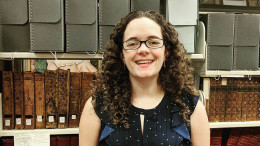 Gwen Coddington is McDaniel's new archivist. (Photo courtesy of Hoover Library).