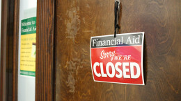 The Financial Aid Office in Elderdice Hall is now closed to walk-in traffic from 8:30 a.m. to 11 a.m. for staff to focus on processing student documents. (Marya Kuratova / McDaniel Free Press).