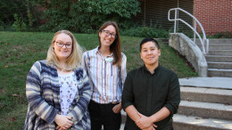 Laura Knox, Kat Griffith, and Patch Tseng-Putterman joined the Wellness Center staff this semester. (Ciara O'Brien / McDaniel Free Press).