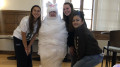 Best Buddies enjoyed a mummy-wrapping event to celebrate Halloween. (Tabitha Mansalley / McDaniel Free Press).