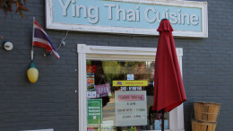Many businesses within walking distance of McDaniel, such as Ying Thai Cuisine, encourage students to enter. (Marya Kuratova / McDaniel Free Press).