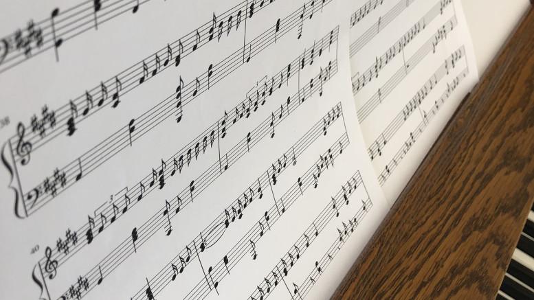 Music notes. (Christina Baker / McDaniel Free Press).