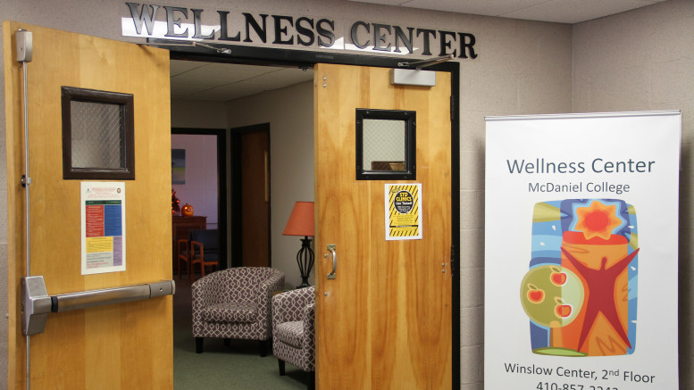 The Wellness Center is located on the second floor of Winslow Hall. (Marya Kuratova / McDaniel Free Press).