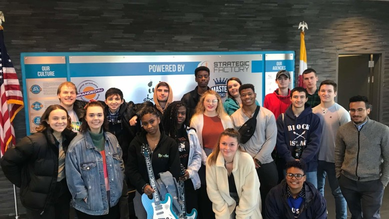 A My Design class visited Strategic Factory during Jan term. (Photo courtesy of the Center of Experience and Opportunity).