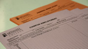 Student workers will no longer use these paper timecards. (Marya Kuratova / McDaniel Free Press).
