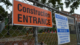 Construction has, unfortunately, been halted. (Marya Kuratova / McDaniel Free Press).